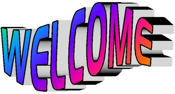 Animation images of welcome